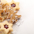 Close-up of shortbread cookies and gingerbread — Stock Photo #26419613