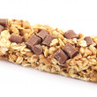 Granola bar with chocolate on white background — Stock Photo #26602029