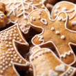 Close-up of Christmas gingerbread cookies.  — Stock Photo
