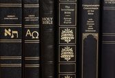 Holy Bible and concordance — Stock Photo
