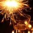 Sparkler and holiday drink. — Stock Photo #26772727