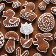 Stock Photo: Easter gingerbread cookies