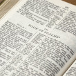 Holy Bible opened on the Book of Psalms — Stock Photo