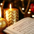 Songbook with Christmas carols — Stock Photo #27202859