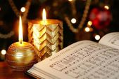 Songbook with Christmas carols — Stock Photo
