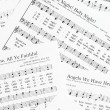 Sheets of Christmas carols. — Stock Photo