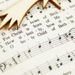 Detail of songbook with Christmas carols — Stock Photo #27250741