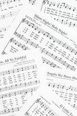 Sheets of Christmas carols. — Stock Photo