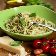 Plate with cooked spaghetti — Stock Photo