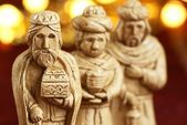 Three wise men from nativity scene. — Stock Photo