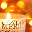 Stock Photo: Close-up of candle for Christmas time
