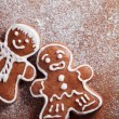 Christmas gingerbread men — Stock Photo #27391589