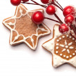 Gingerbread cookies with Christmas decoration — Stock Photo #27395923