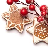 Gingerbread cookies with Christmas decoration — Stock Photo