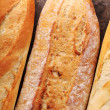 Top view of baguettes — Stock Photo