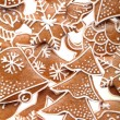 Close-up of Christmas gingerbread cookies. — Stockfoto