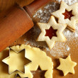 Stock Photo: Dough and star shape cookies