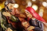 Nativity scene - close-up of Christmas decoration. — Stock Photo