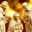 Three wise men from nativity scene — Stock Photo