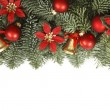 Holiday frame with Christmas tree branches — Stock Photo
