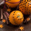 Decorated oranges — Stock Photo