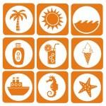 Summer icon set — Stock Vector