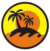 Summer island — Stock Vector