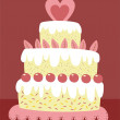 Sweet cake — Stock Vector