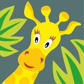 Testa di giraffa. — Vettoriale Stock