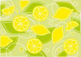 Limões e folhas — Vetorial Stock