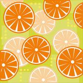 Sliced oranges — Stock Vector