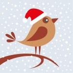 Bird sitting on branch — Stock Vector #38946567