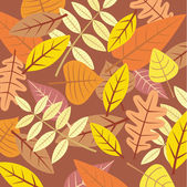 Various autumn leaves — Stock Vector