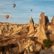 Beautiful rocks and balloons — Stock Photo #26239193