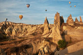 Beautiful rocks and balloons — Stock Photo