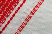 Fabric with embroidery — Stock Photo