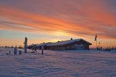 House at sunset — Stock Photo