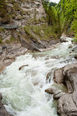 Wild river in the mountains — Stock Photo