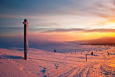Sunset in the tundra — Stockfoto