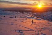Sunset in Lapland — Stockfoto