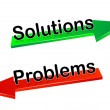 Solutions,problems — Vettoriali Stock