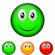 Emoticon validation — Stock Vector
