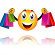 Smiley went shopping — Stockvektor #28929647