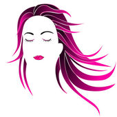 Hairstyle women — Stock Vector