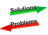 Solutions,problems — Stockvektor