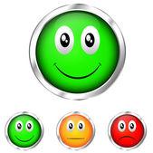 Emoticon validation — Stock Vector
