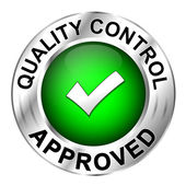 Icon quality control approved — Stock Vector