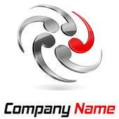 Logo 3d branding — Stock Vector
