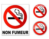Plaque Non fumeur — Stock Vector