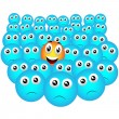 Elected Smiley in the crowd — Stock Vector